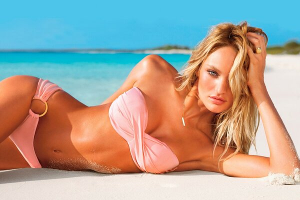 Candice Swanepoel Hot for Victoria s Secret Swimsuit 2012