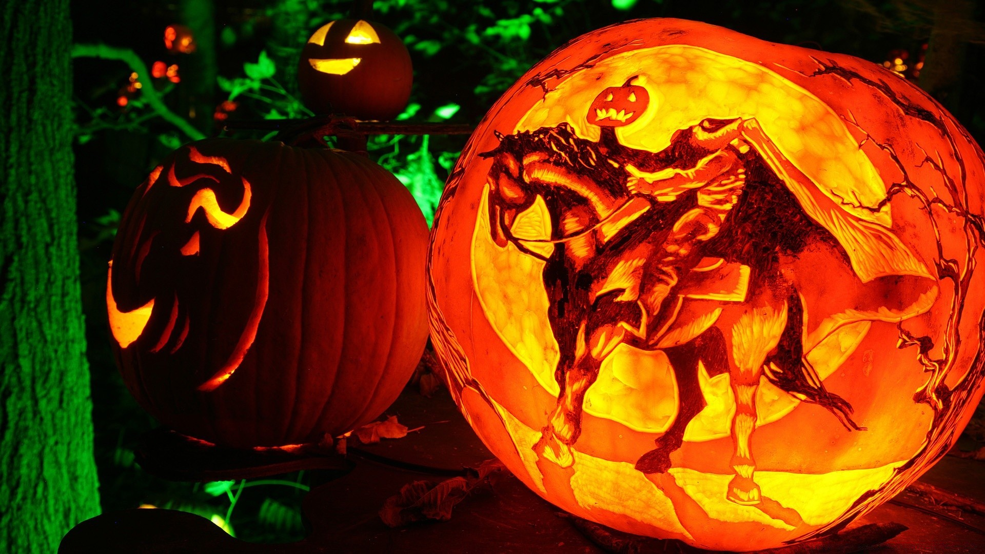 headless horseman jack o lantern. android wallpapers for free.