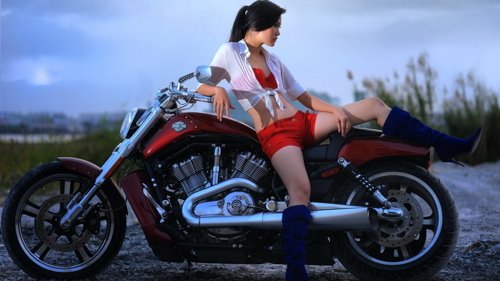 girls and motorcycles bike vehicle wheel transportation system