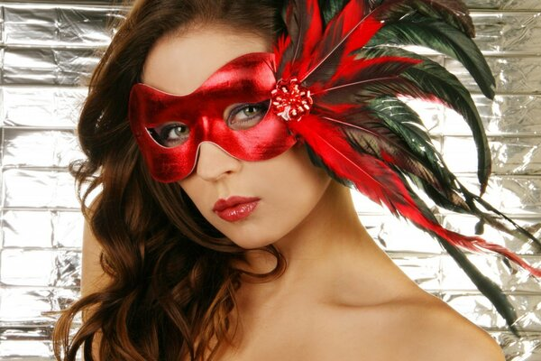 Girl in a red mask