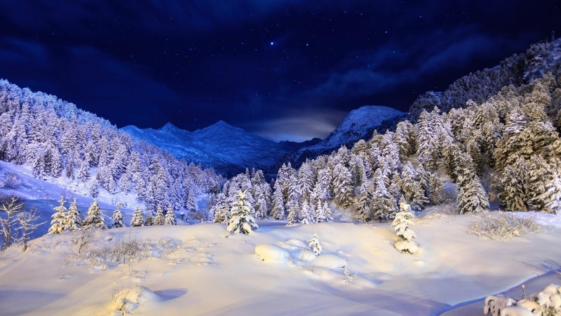 обои зима на рабочий стол пейзажи № 640874 загрузить