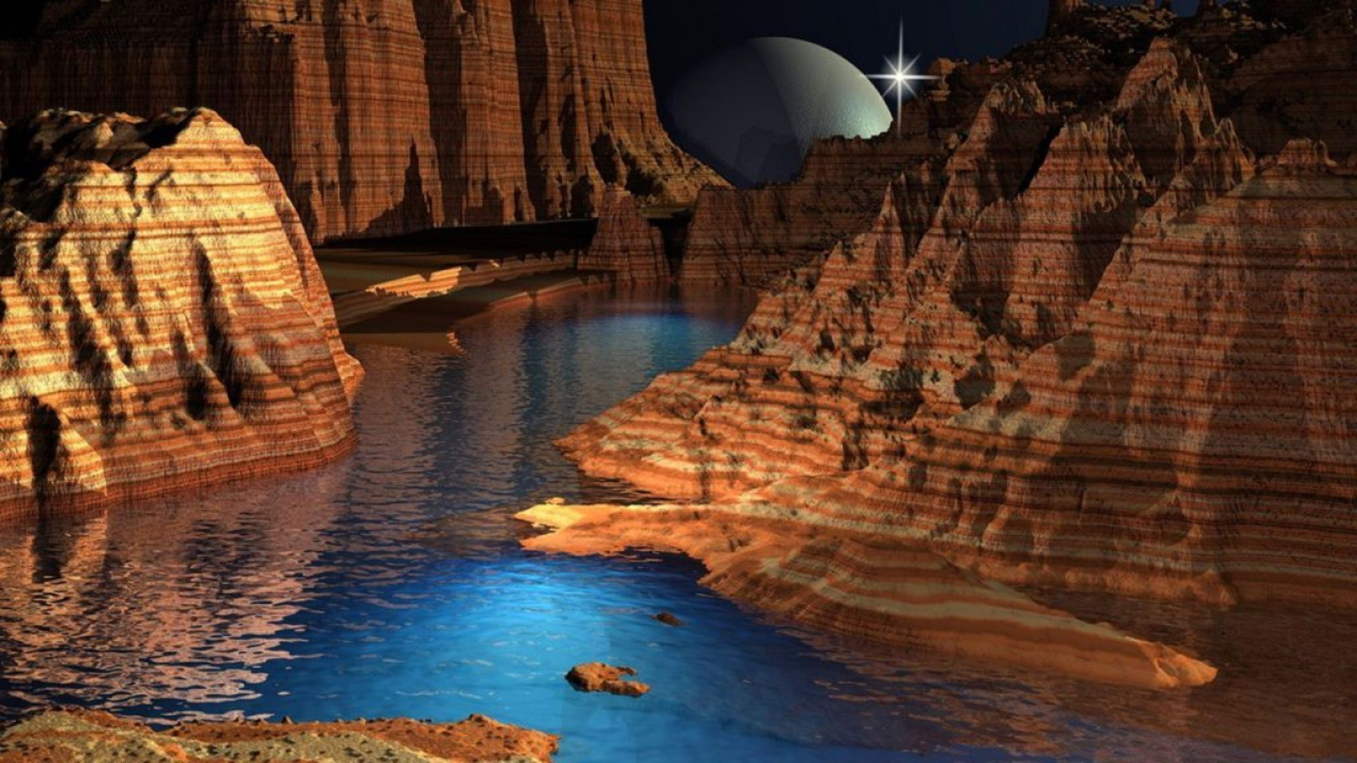 planets water travel landscape outdoors rock reflection scenic river nature recreation sunset