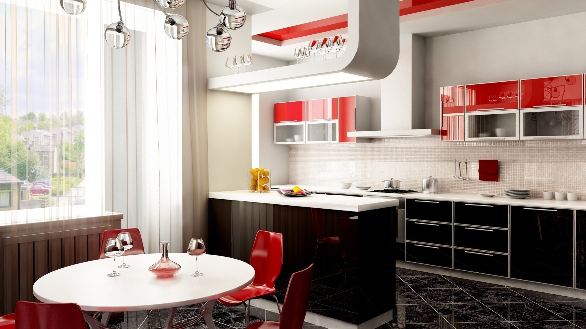 Amazoncom red white and blue kitchen decor