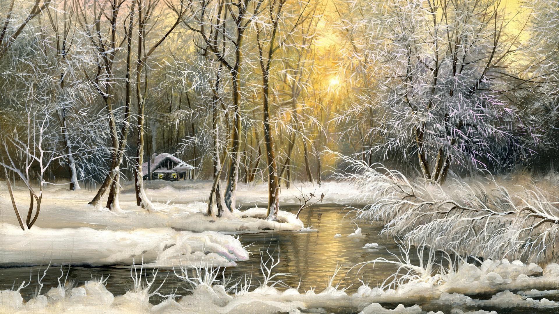 Winter Landscape Phone Wallpapers