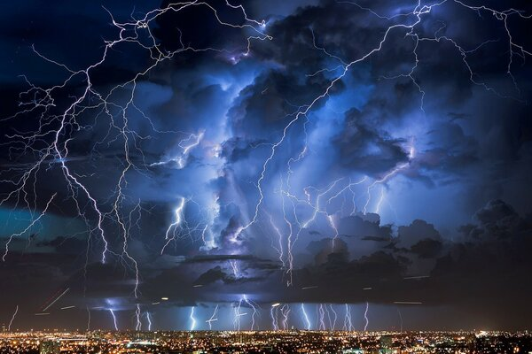 Thunderstorm over the metropolis