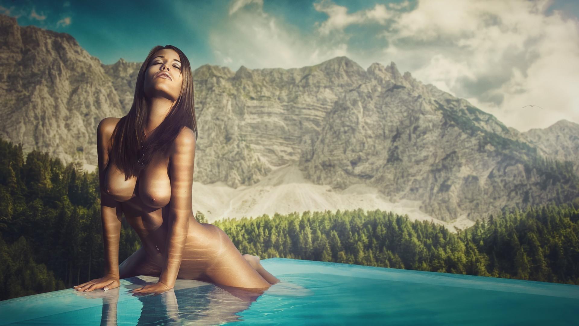 Фото обои голых женщин