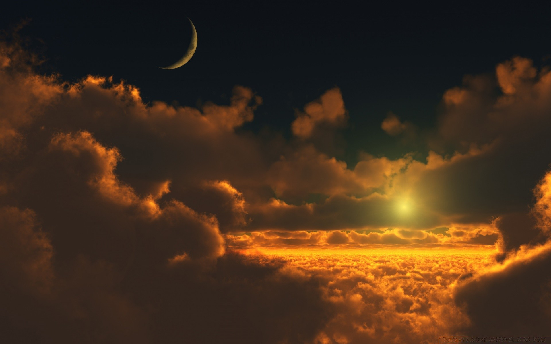 Sun Above Clouds Android Wallpapers