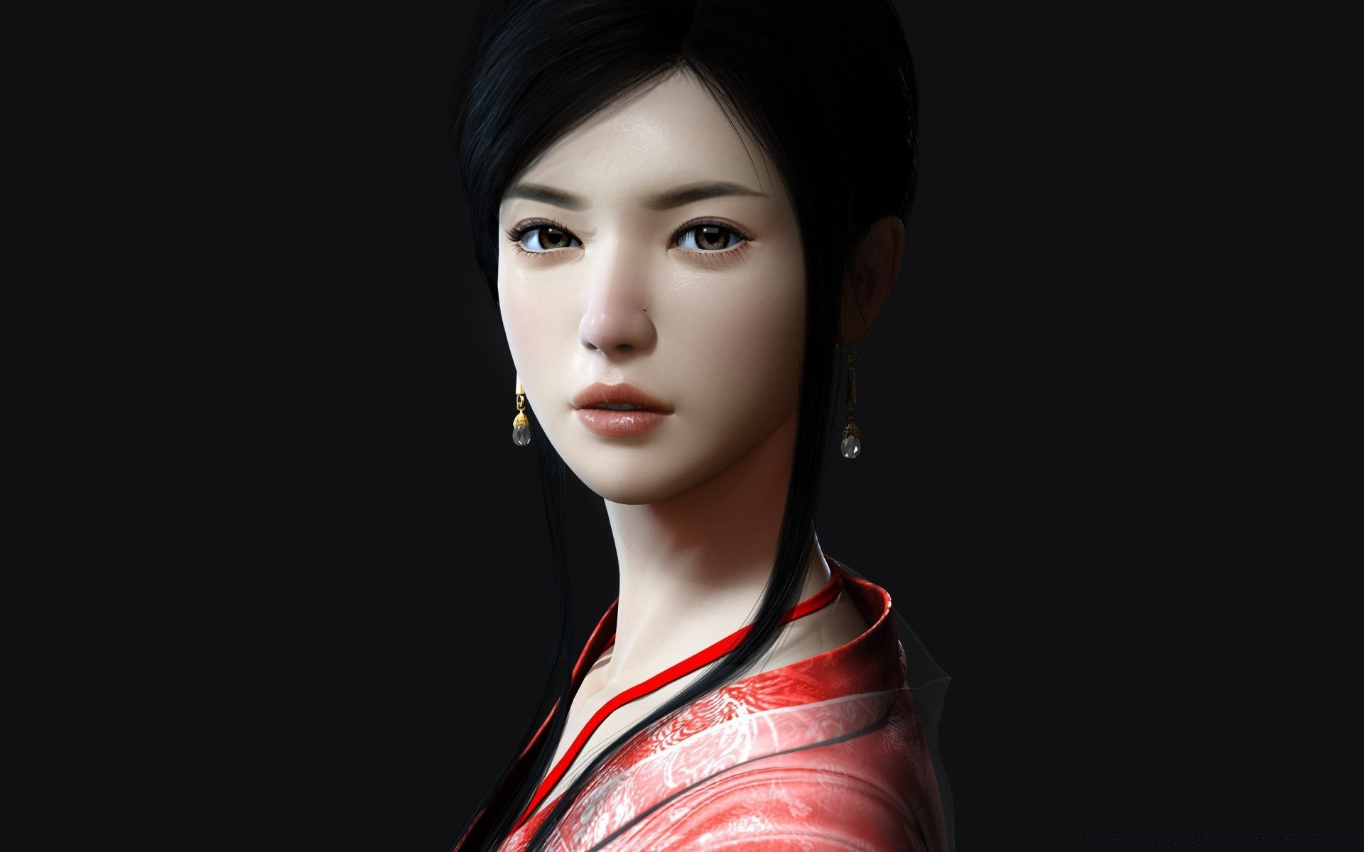 3D Asian Girl asian girl - android wallpapers