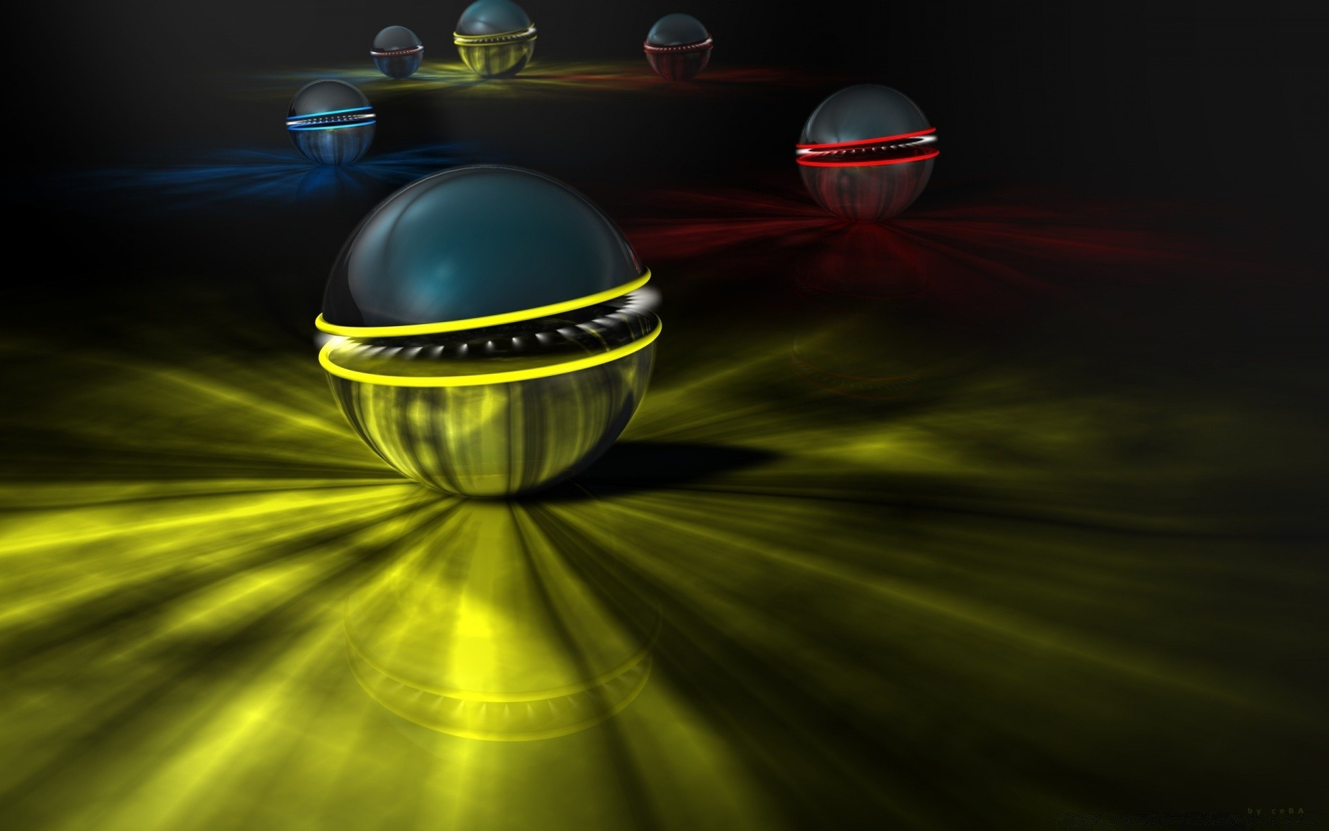 3d Abstract Balls Android Wallpapers
