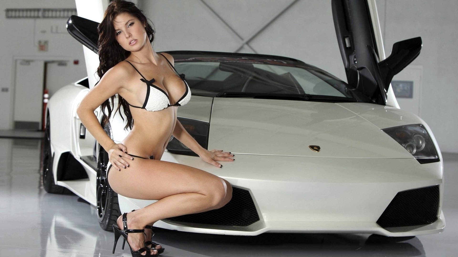 cars and girls woman sexy car fashion vehicle pretty indoors