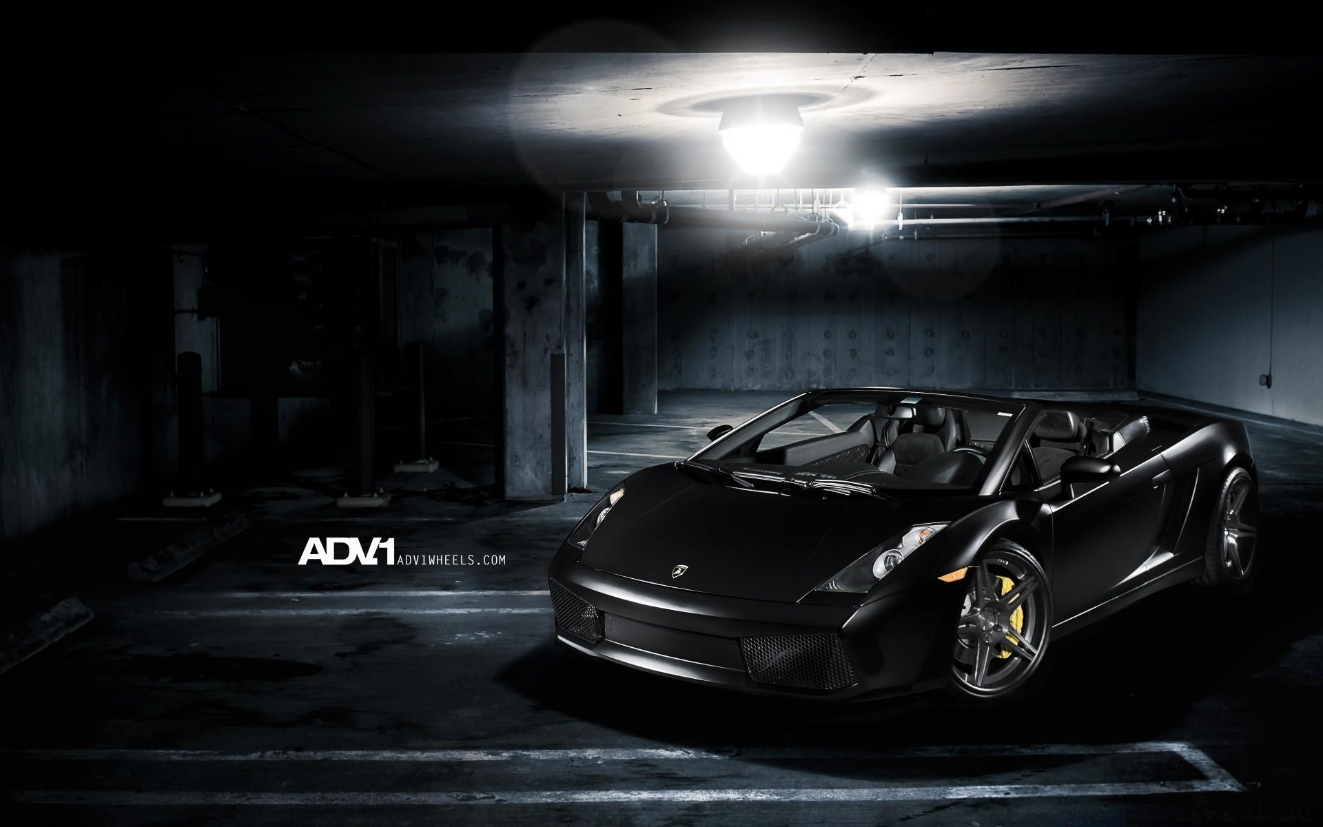 ADV1 Matte Black Lamborghini Gallardo Spyder IPhone Wallpapers For Free