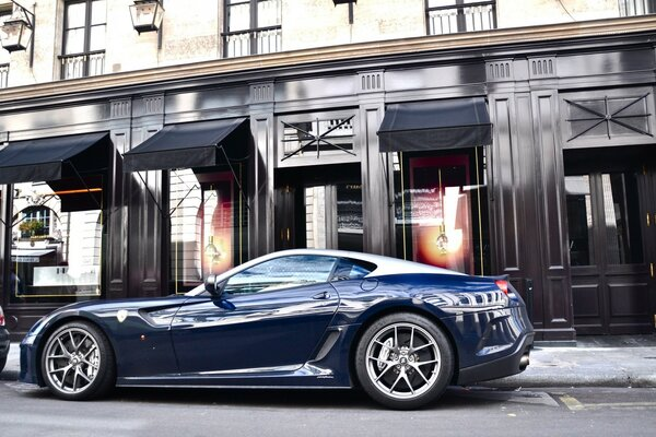 Dark Blue Ferrari