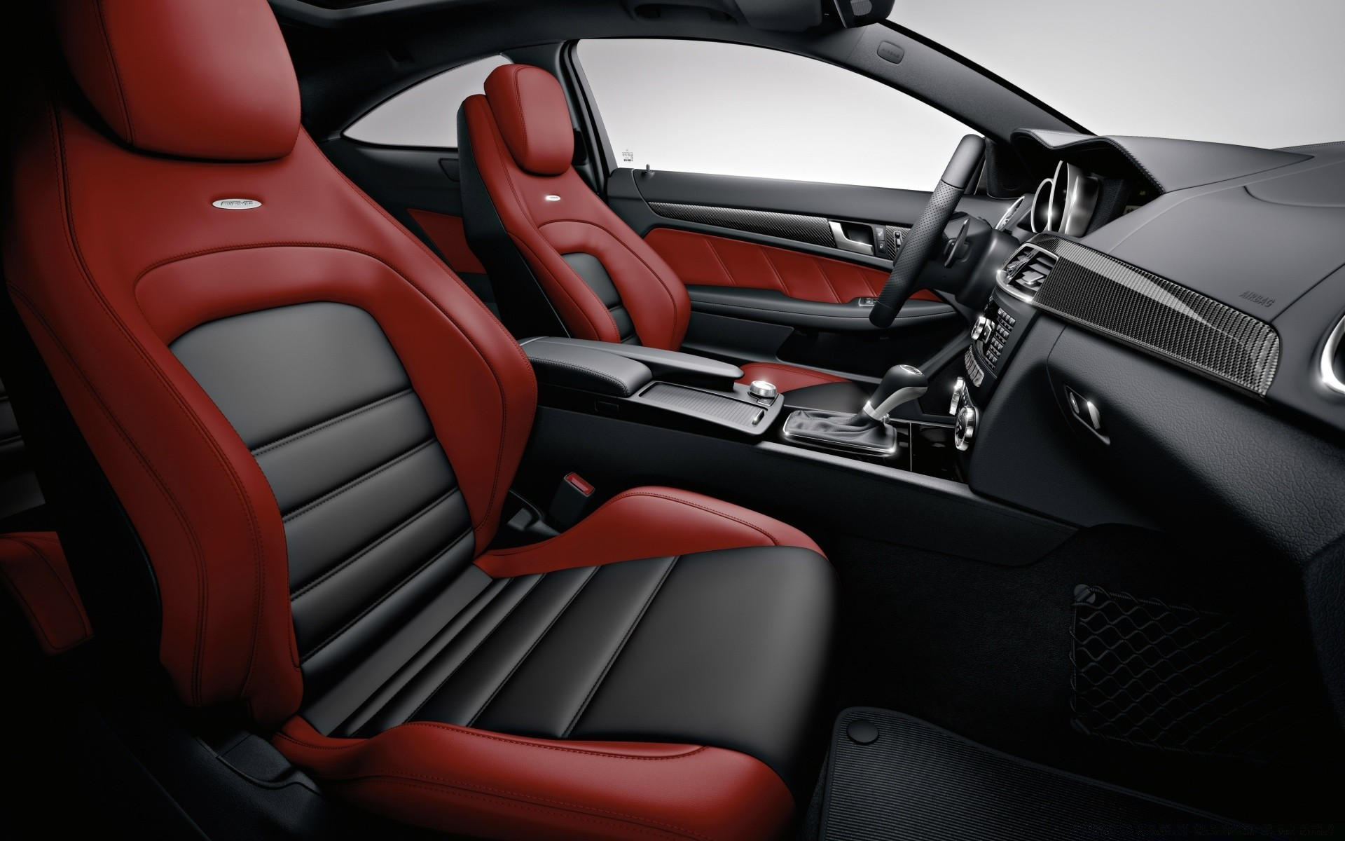2012 Mercedes Benz C63 AMG Car Interior. Android wallpapers for free.