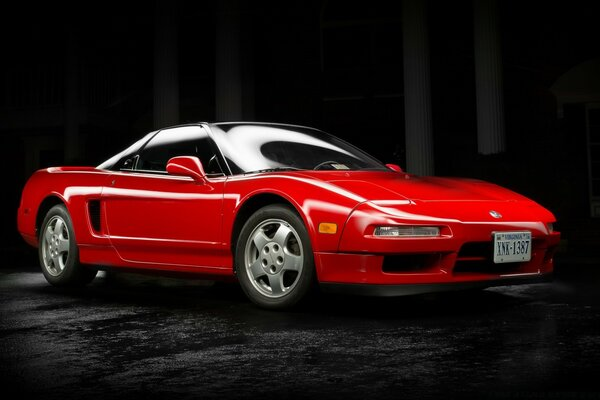 Red Acura NSX 1991