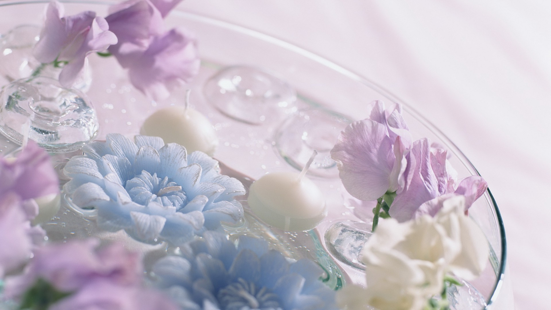 Soap, flowers, candles