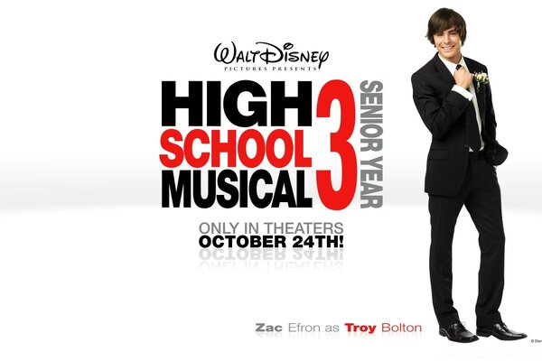 Zac Efron As Troy Bolton High School Musical
