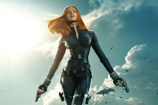 Black Widow in Captain America The Winter Soldier