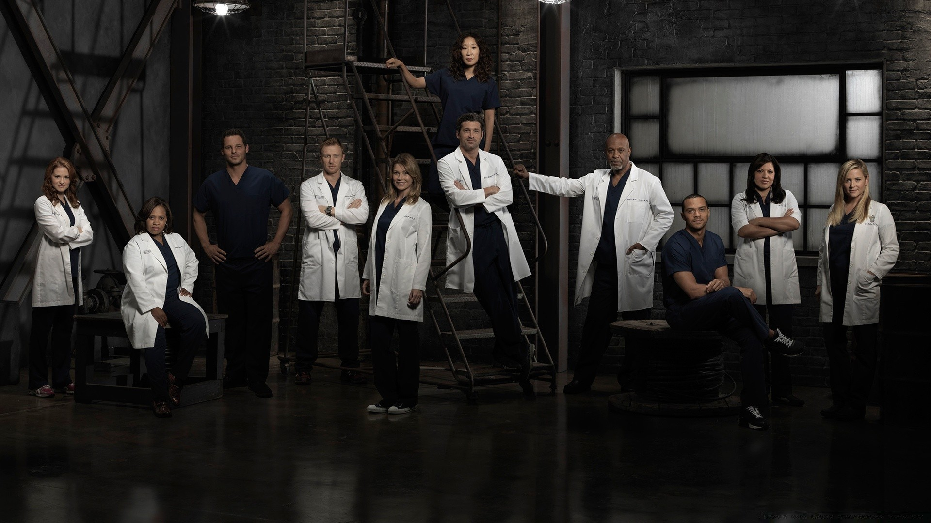 Greys Anatomy TV Show Cast. Android wallpapers for free.