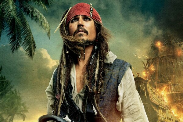 Pirates Of The Caribbean On Stranger Tides 2011 - Johnny Depp As Captain Jack Sparrow