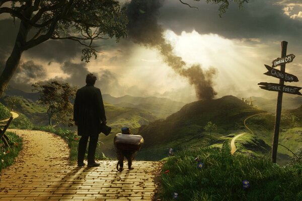Oz The Great and Powerful - Finley and Oscar James Franco