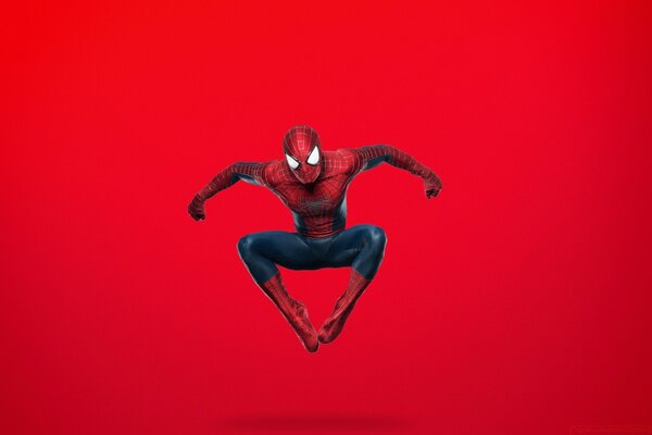 Spider Man Jumping (Red Background)