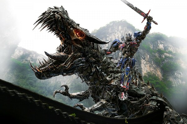Transformers 4 Optimus Prime Vs Dinobot