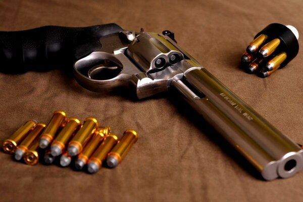 A revolver and ammunition