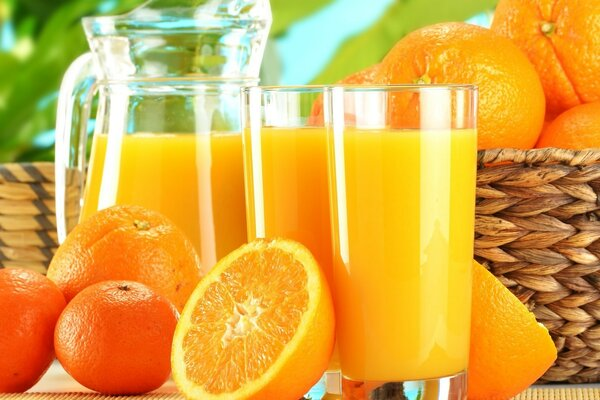 Oranges, orange juice