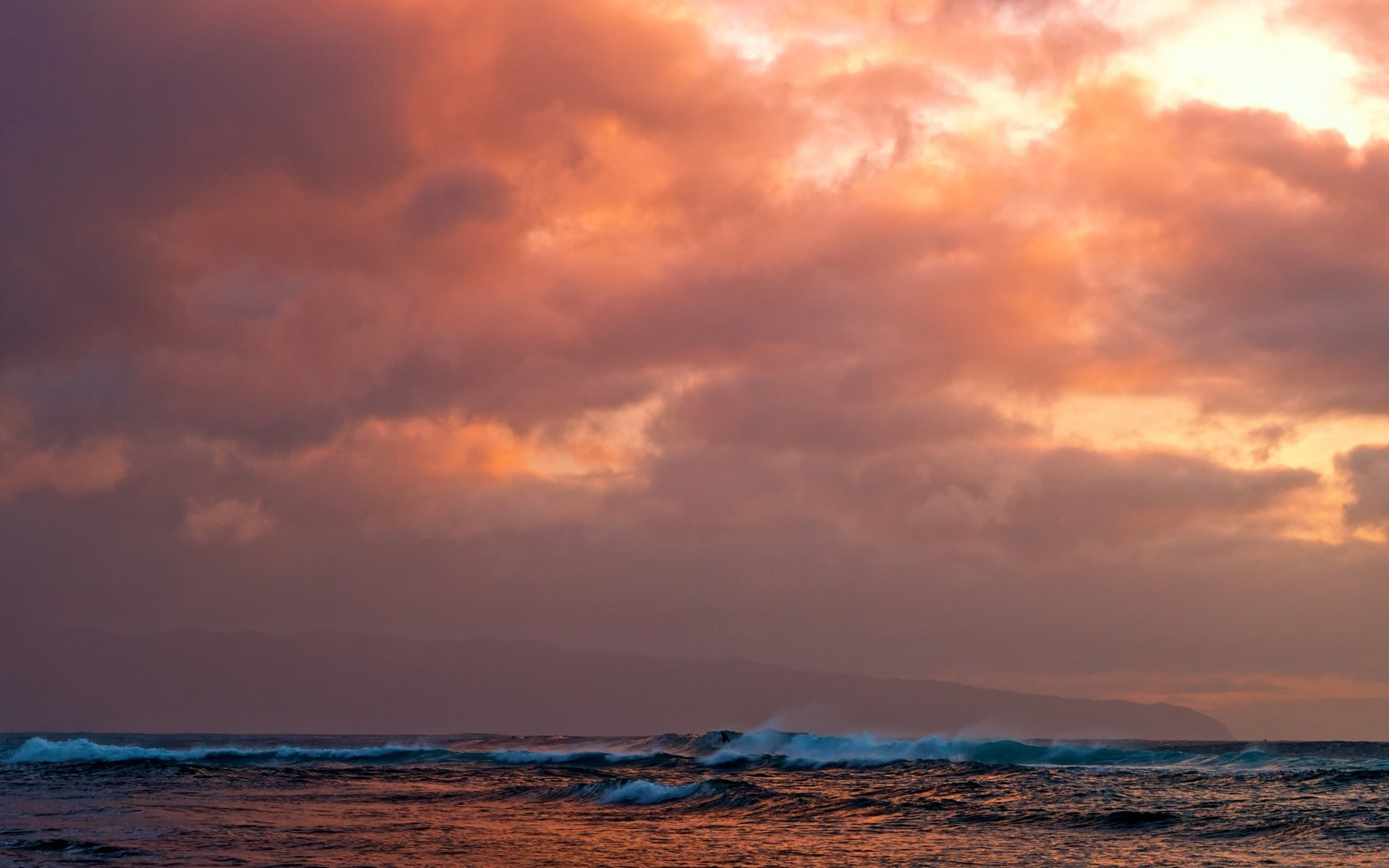 Hawaii Waves Sunset Iphone Wallpapers For Free