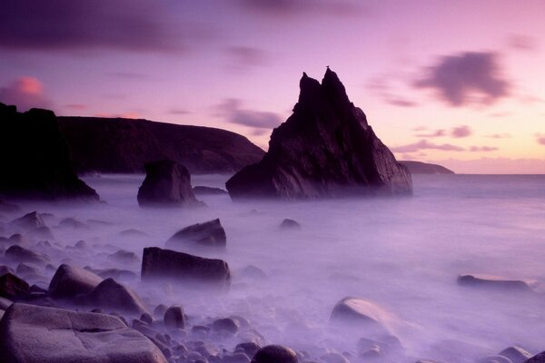 Dusk Cligga Point Cornwall England