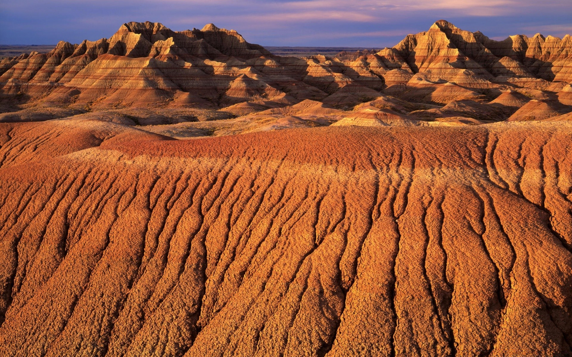Morning Light On Eroded Formations Badlands National Park Android Wallpapers For Free