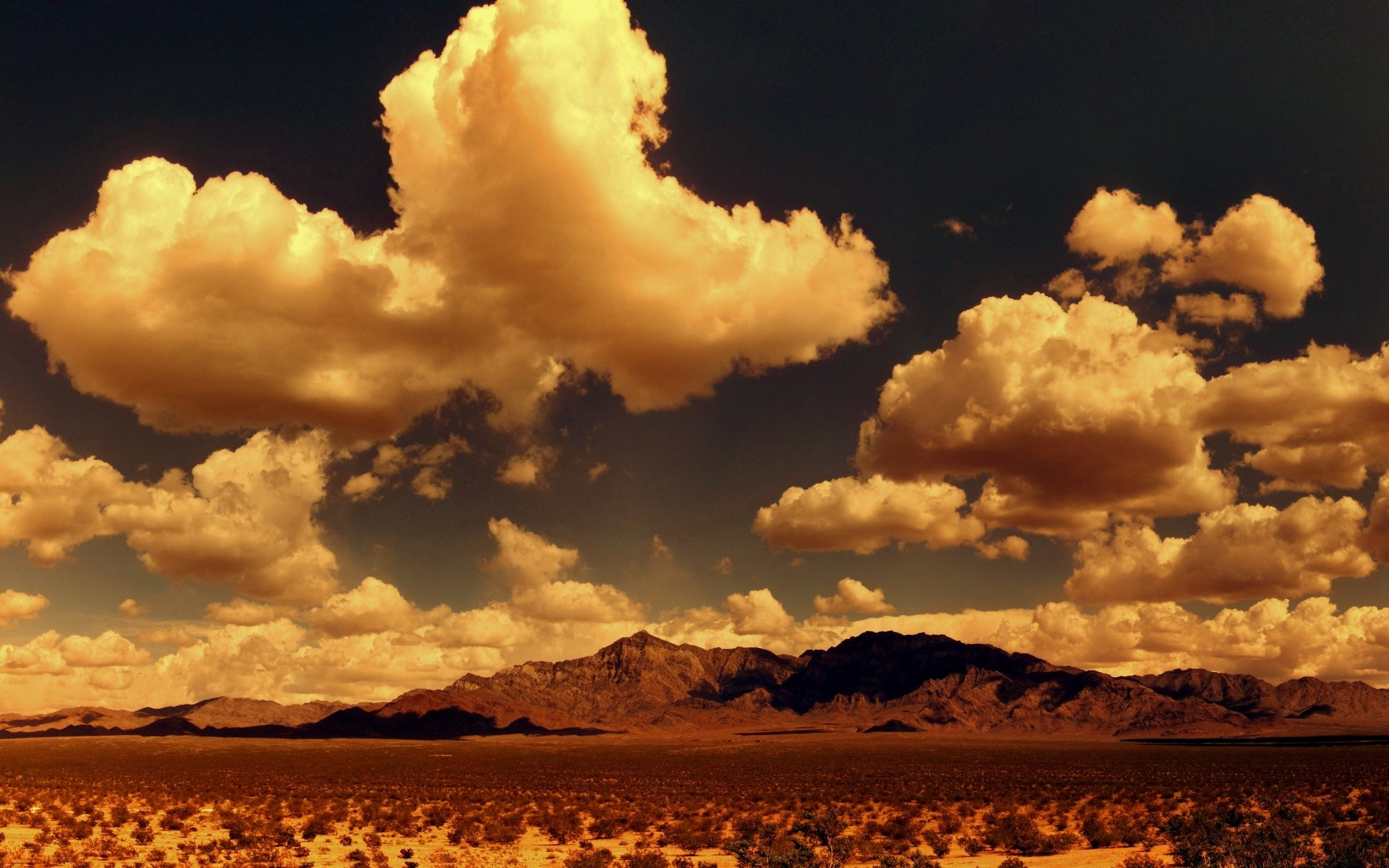 Desert Mountains Panorama Android Wallpapers For Free