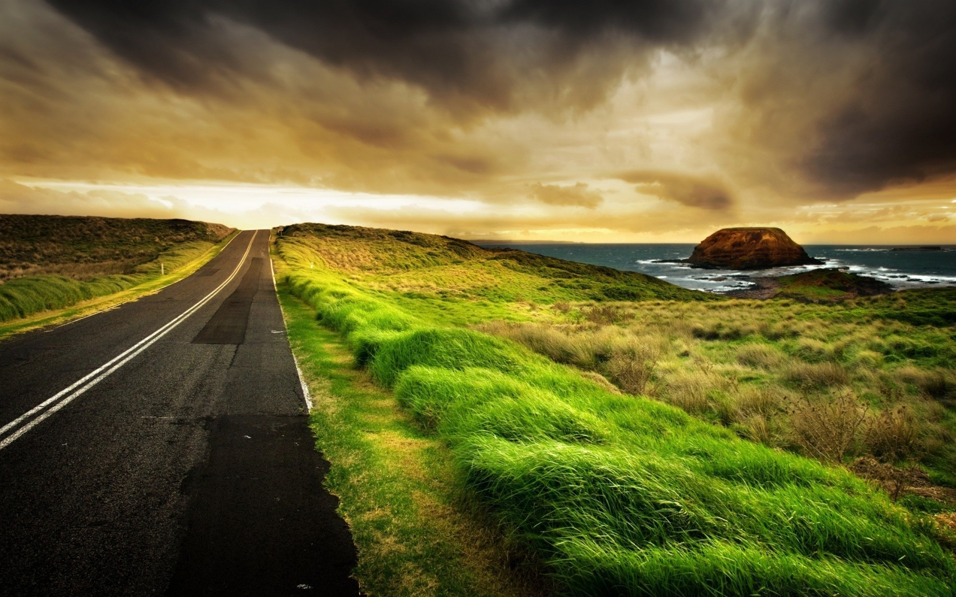 Seaside Road IPhone Wallpapers For Free