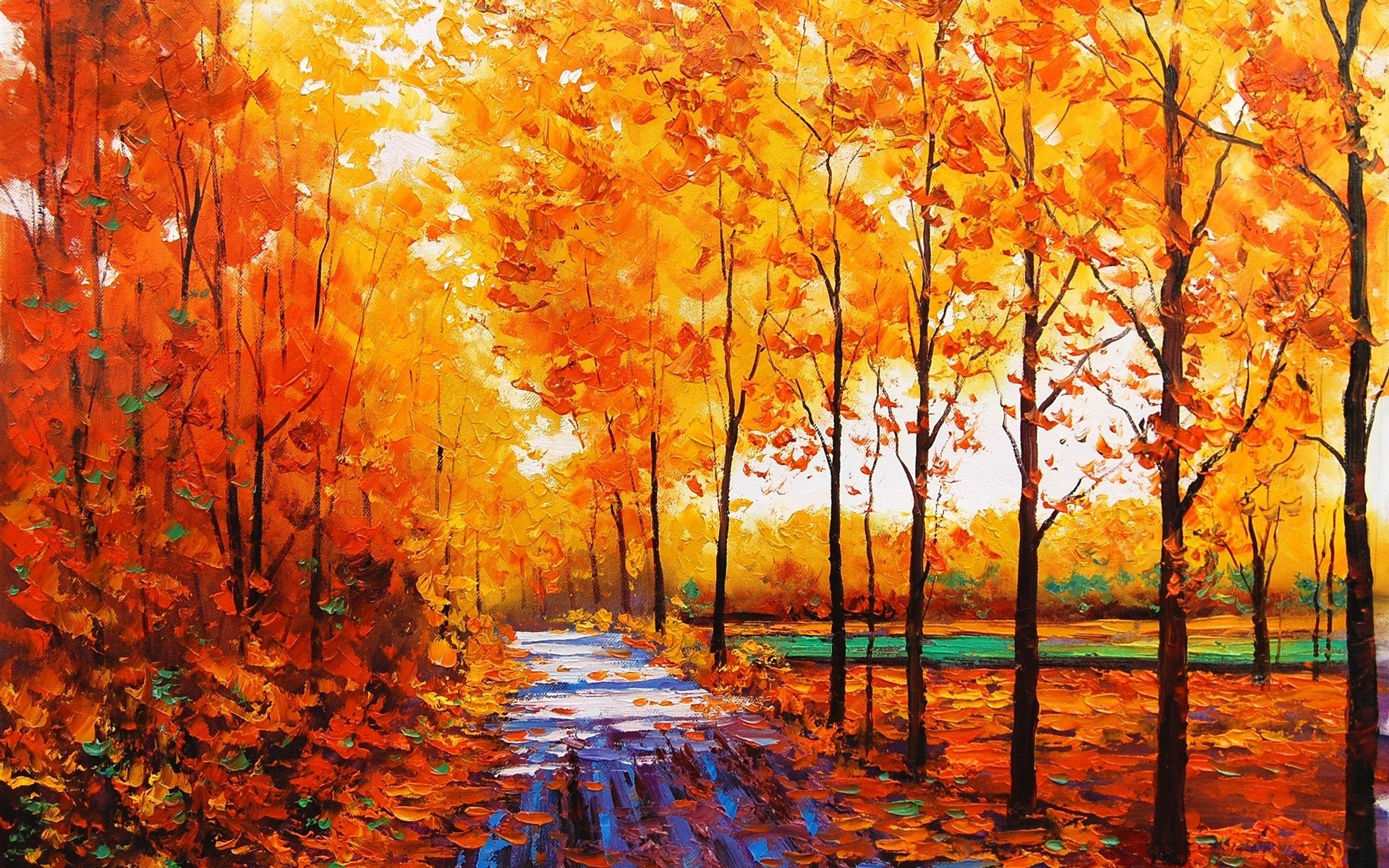 Fall Painting Free Wallpapers