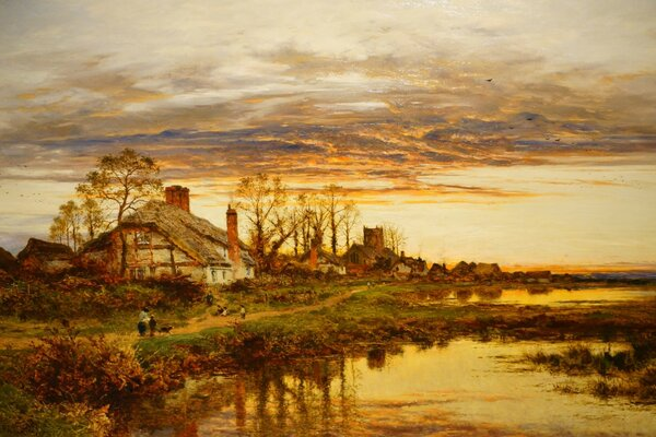 Autumn Evening In Worcestershire Painting