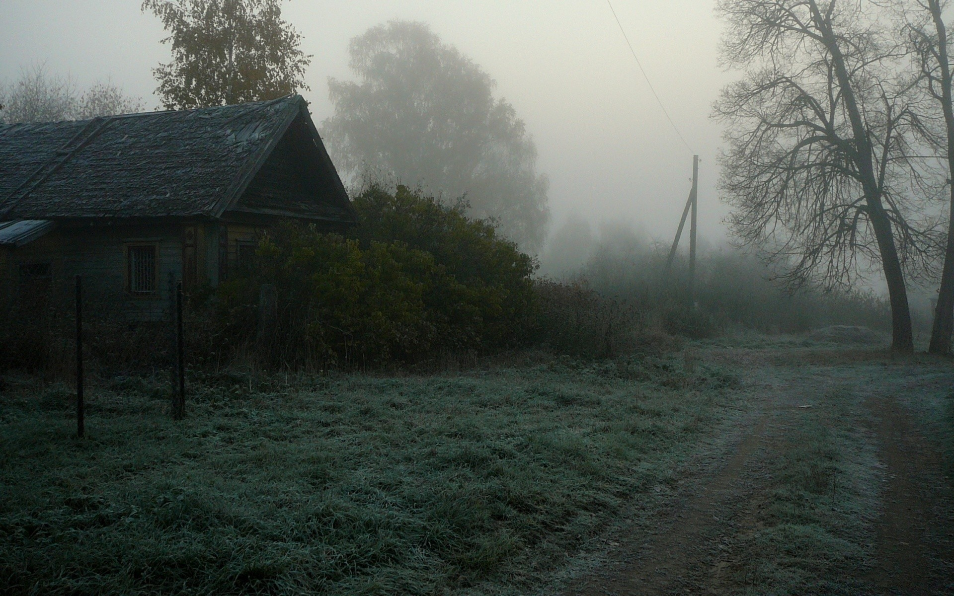 Foggy Village Android Wallpapers For Free