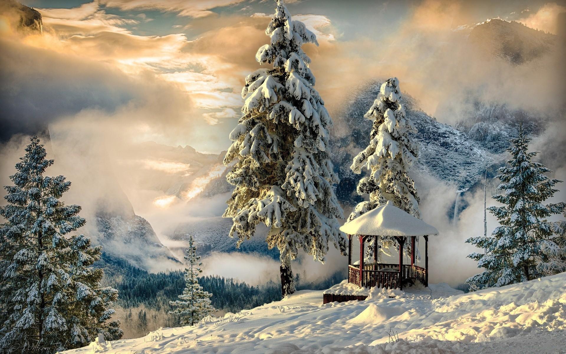 обои зима на рабочий стол пейзаж № 640724  скачать