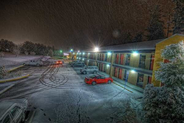 Motel, Winter