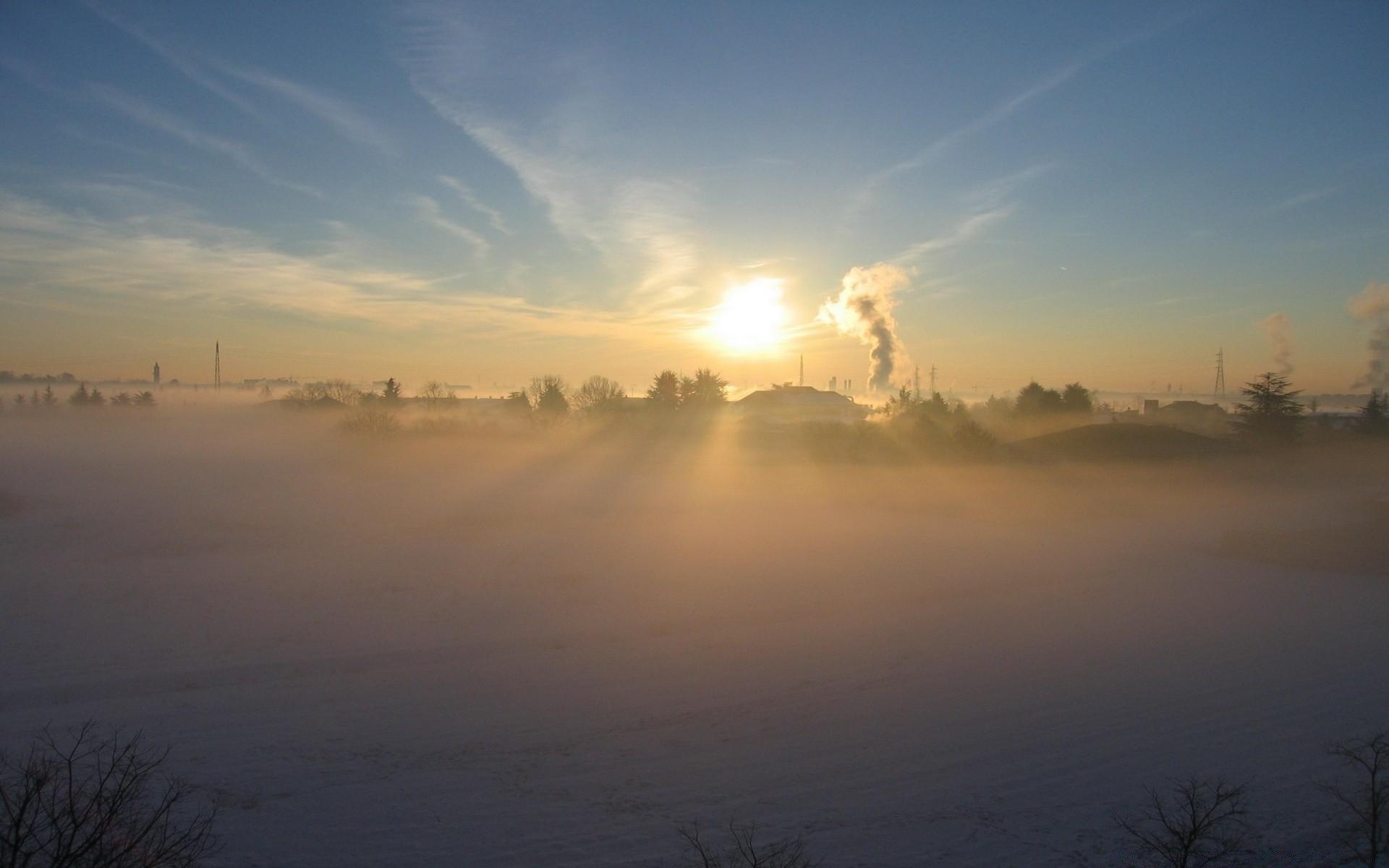 снег зима деревня рассвет  № 2479389 без смс