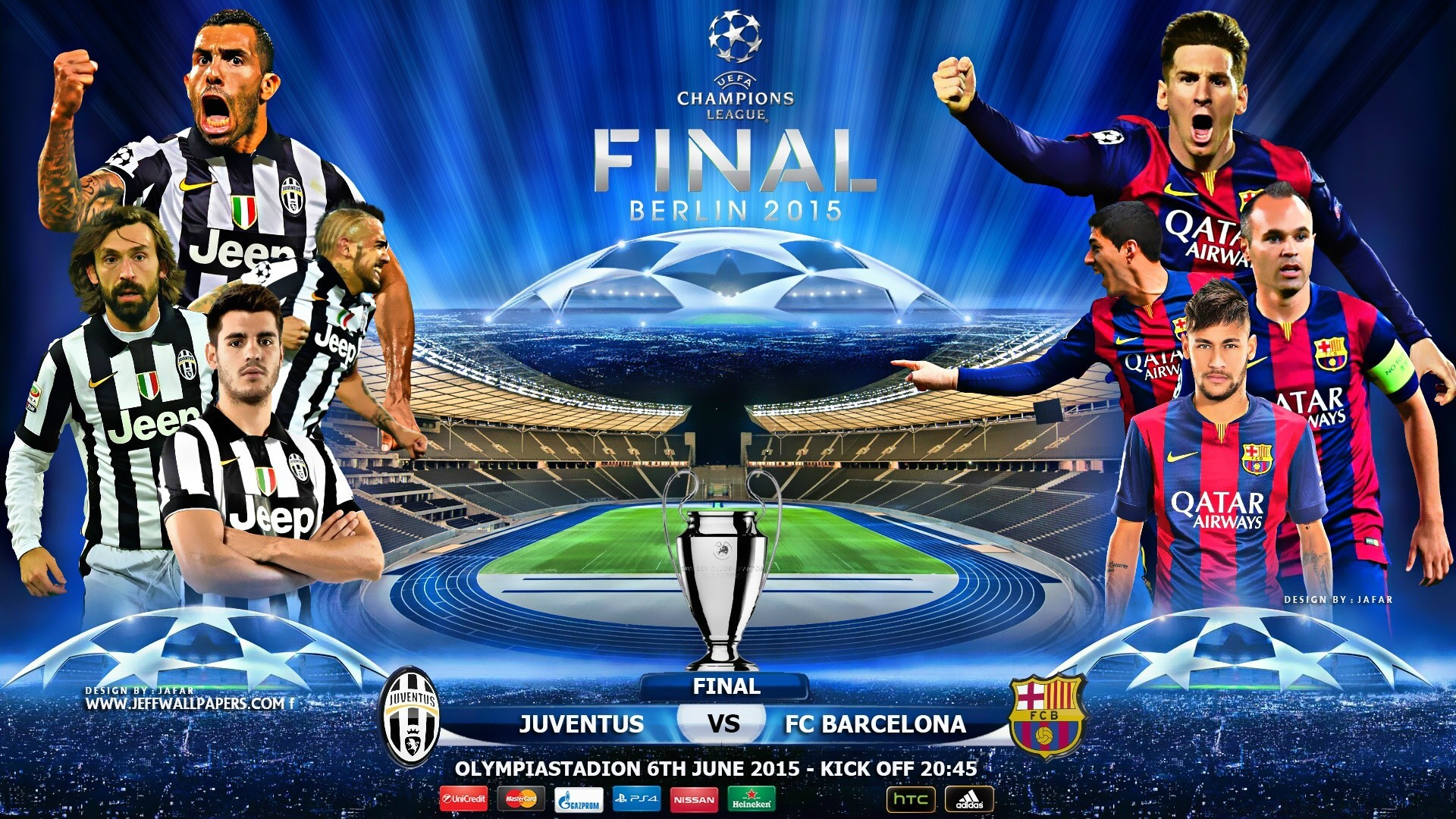 JUVENTUS FC BARCELONA CHAMPIONS LEAGUE FINAL Free Wallpapers