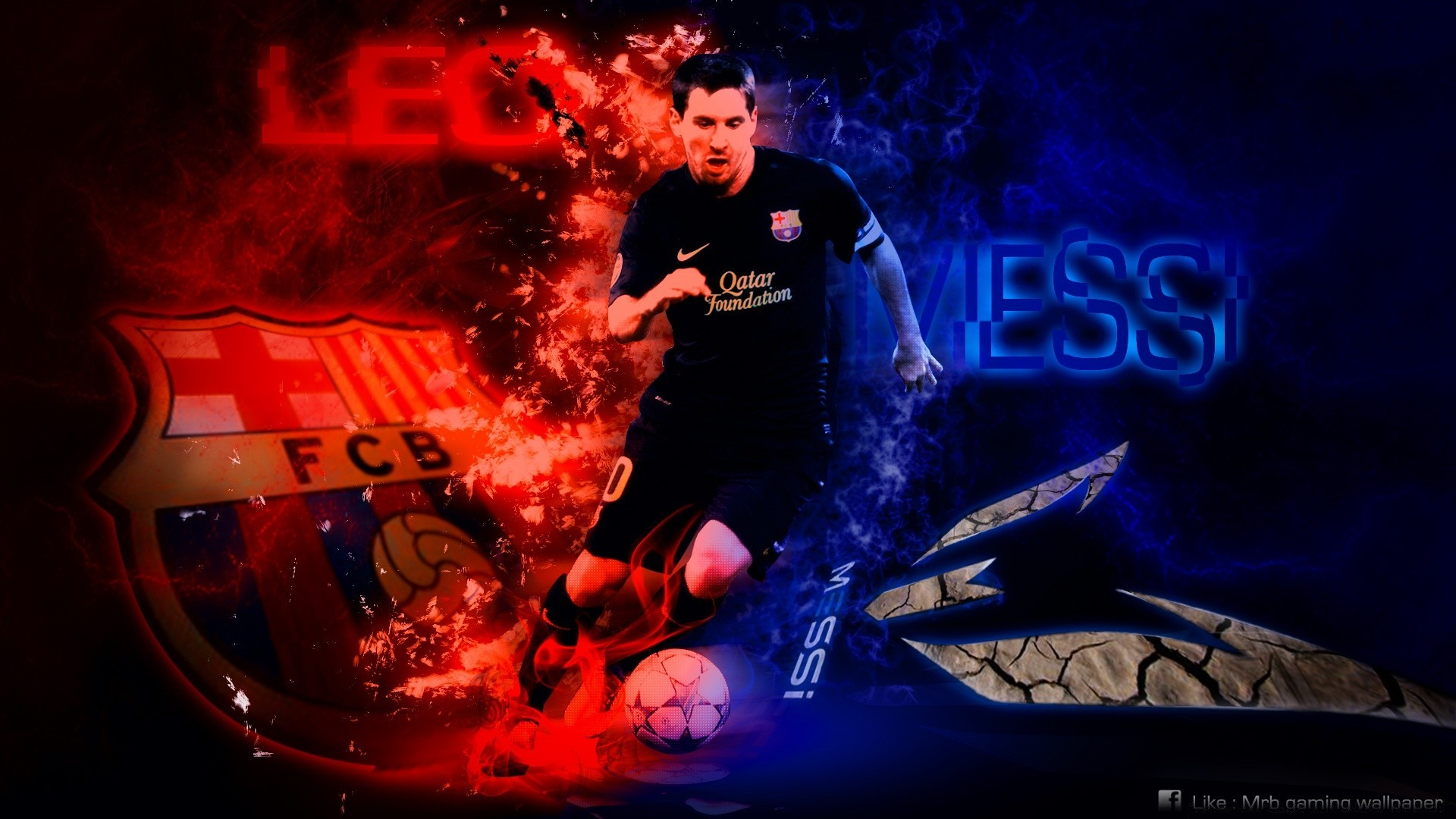Lionel Messi Hd Wallpaper By Mrb Gaming Desktop Wallpapers For Free