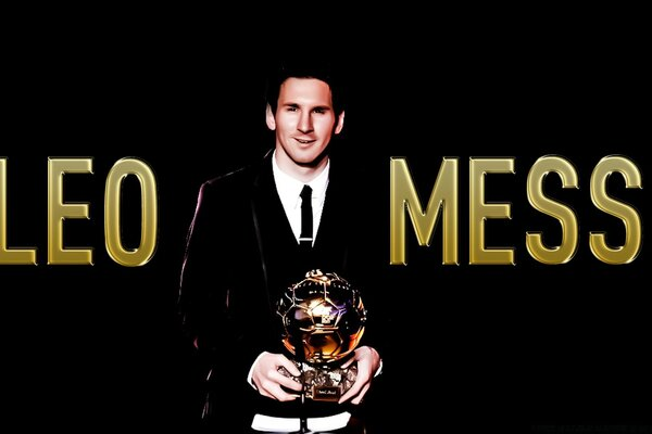 Messi with the Ballon d or...