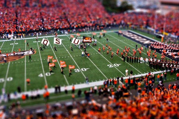 American Football Tilt Shift