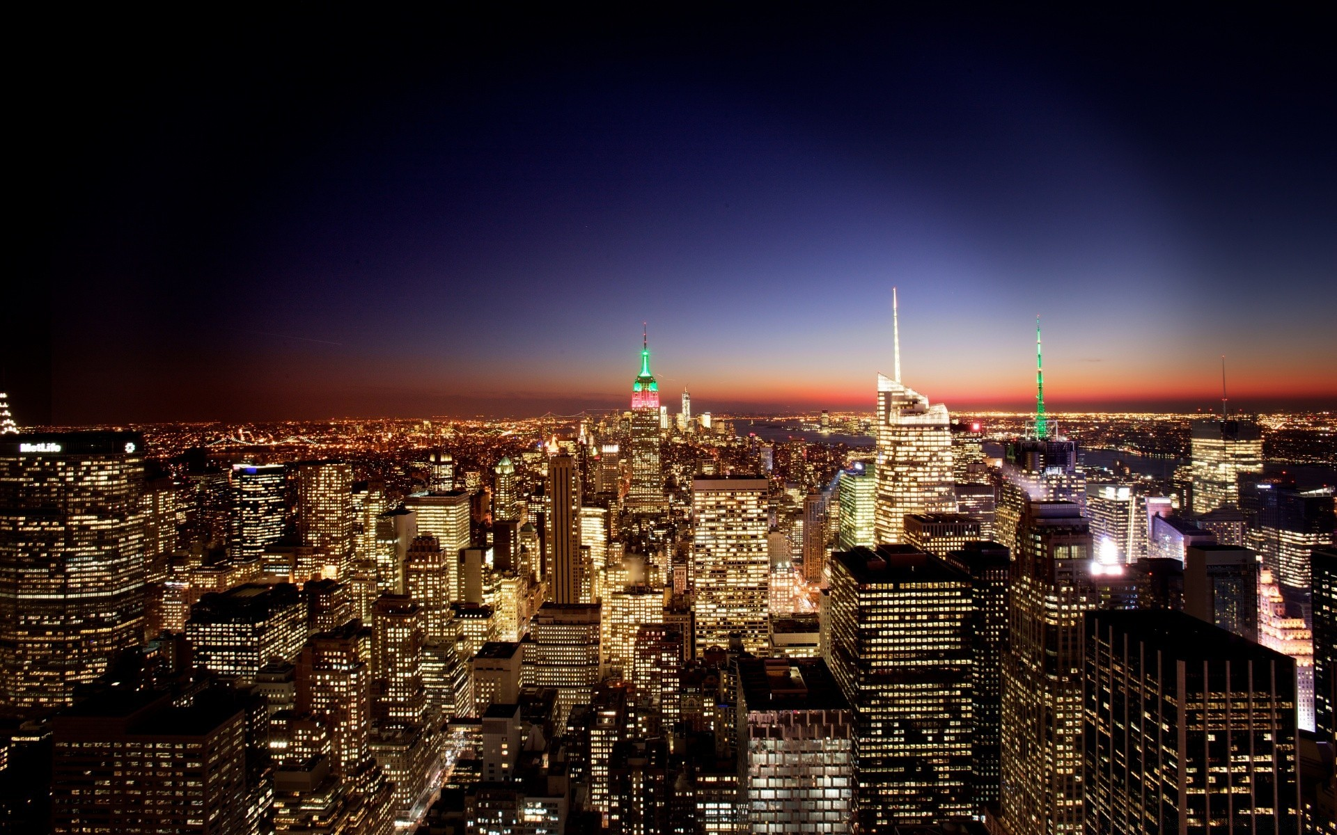 New York City At Night Free Wallpapers