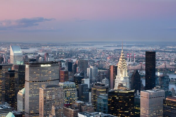 A Panoramic View of New York City