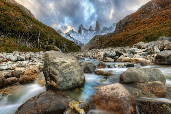 Mountain River In Argentina