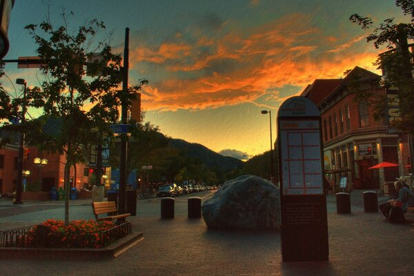 West End of Pearl Street Mall, Boulder Colorado