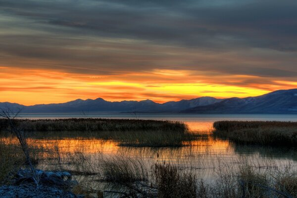 Fall Evening, Utah Lake
