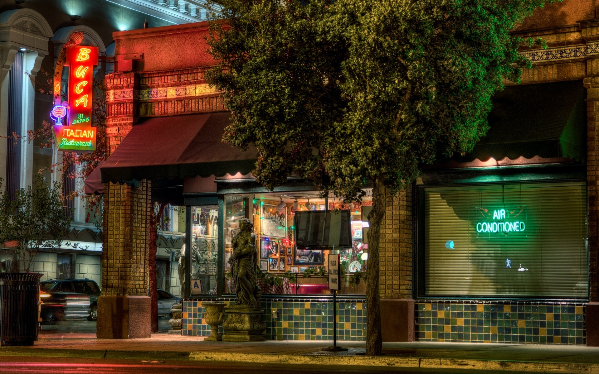 america stock street travel restaurant architecture city outdoors commerce market shopping building tourist bar hotel evening