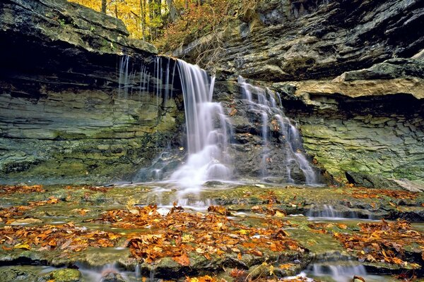 McCormicks Creek State Park In Autumn, Indiana